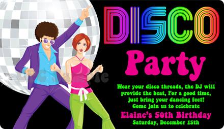 Вечеринка в стиле 80-х пригласительные