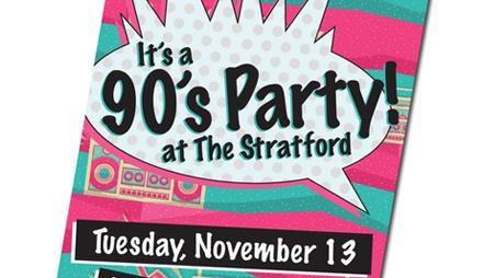 Вечеринка в стиле 90-х пригласительные