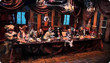 вечеринка хэллоуин меню