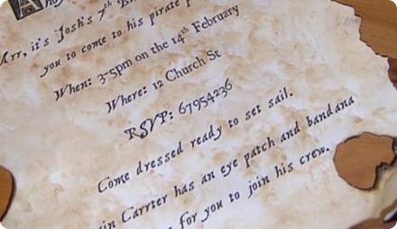 Пиратская вечеринка пригласительные