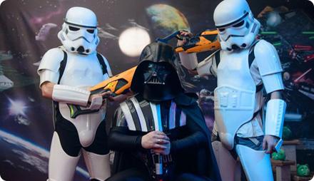 вечеринка в стиле звездных войн костюмы